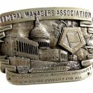 1984 Federal Managers Assoc. Belt Buckle Marked PROOF By Walt Byers 102214