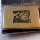 1986 KQED 9 Radio TV Annual Auction Northern California Brass Belt Buckle 8976