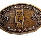 D. Q. Wise & Co Inc. Owl Belt Buckle by C. J. Enterprises Tulsa OK