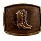 Western Cowboy Boots Belt Buckle