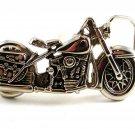 Unmarked Silvertone Motorcycle Belt Buckle 12052013