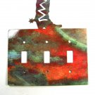 Cowboy Boot Triple Light Switch Plate Steel Images USA 51415