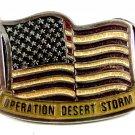 American Flag Operation Desert Storm Belt Buckle 5714 Made in USA