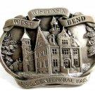 West Bend Wisconsin Belt Buckle Marked PROOF By Reward West Bend Inc
