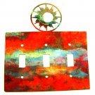 Shining Sun Triple Light Switch Plate by Steel Images Made In USA 52815