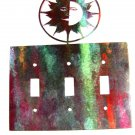 Shining Sun Triple Light Switch Plate by Steel Images Made In USA 52815V