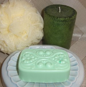 Lemongrass Sage   Victorian Soap with Emu Oil
