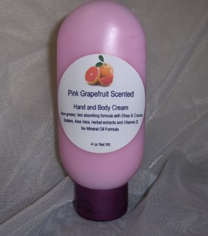 Pink Grapefruit  Hand & Body Cream 4oz Malibu Tube Sylvan Lane