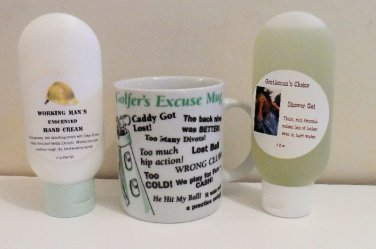Golfer's Excuse Mug with Shower Gel or Hand Cream