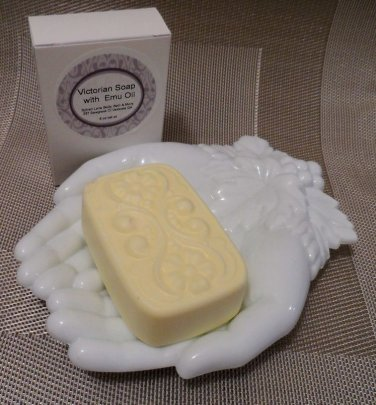 Happy (Type) Scented Emu Oil Soap Victorian Bath Bar Sylvan Lane