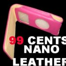APPLE iPod NANO LEATHER PINK /BROWN CASE-GENERATION 1/2