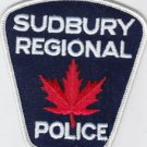 Sudbury regional Police Shoulder Patch-Canada