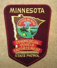 Minnesota State Police Commercial Vehicle Enforcement Trooper Shoulder Patch