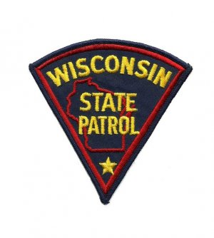 Wisconsin State Patrol Police Trooper Shoulder Patch