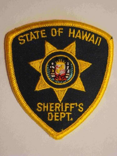 State of Hawaii sheriffs department police shoulder patch