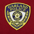Garland Texas police department shoulder patch