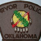 pryor oklahoma patrol police department shoulder patch