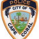 Cape coral florida police department shoulder patch