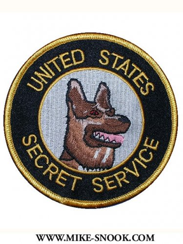 United States Secret Service Police canine K9 department shoulder patch