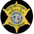Richland County South Carolina Deputy Sheriff Sheriffs Department uniform shoulder patch