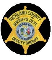 Richland County South Carolina Deputy Sheriff Sheriffs Department uniform shoulder patch