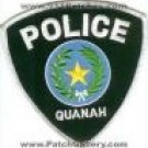 Quanah Texas Police Department uniform shoulder patch