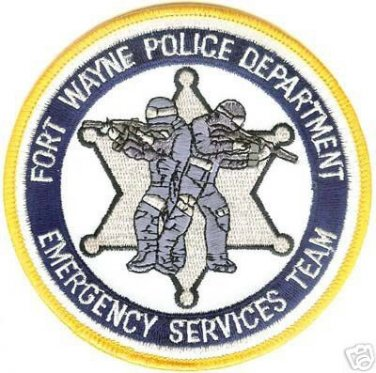 Fort Wayne Police Department SWAT Emergency Services Team specialized uniform shoulder patch