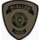 McAllen Texas Police Department specialized subdued uniform shoulder patch