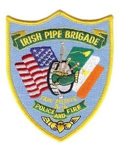 Irish Pipe Brigade Atlantic City New Jersey Police and Fire Department shoulder patch