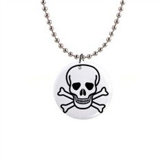"Jolly Roger 1"" Button Necklace"