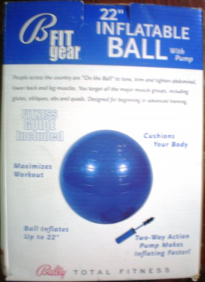 "BALLY'S 22"" FITNESS BALL"