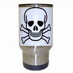Jolly Roger Travel Mug (White)