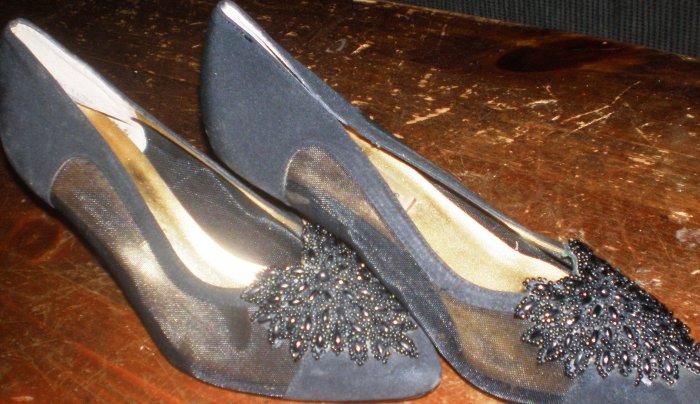 Black Women's Heels, glam, Apostrophe, 7-1/2, shoe high