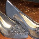 Black Women's Heels, glam, Apostrophe, 7-1/2, shoe high