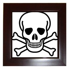 Jolly Roger Framed Tile, goth , punk