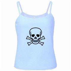 Jolly Roger Baby Blue Spaghetti Tank, goth, punk, rock