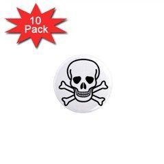 "Jolly Roger 1"" Mini Button (10 pack), goth, punk, rock"