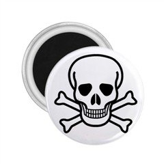 "Jolly Roger 1"" Mini Magnet (10 pack) , punk, goth, rock"