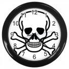 Jolly Roger Wall Clock (Black), punk, goth, rock