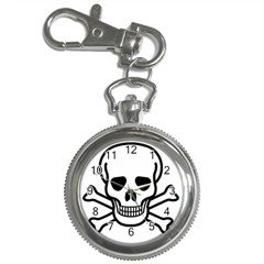Jolly Roger Key Chain Watch, punk, goth, rock