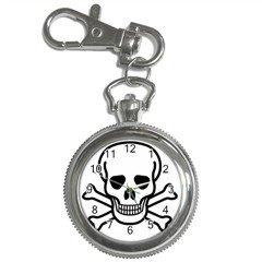 Jolly Roger Key Chain Watch, punk, goth, rock