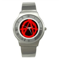 Avarchy Stainless Steel Watch, goth, punk, rock