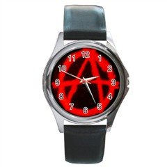 Anarchy Round Metal Watch, punk, goth, rock