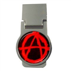 Anarchy Money Clip (Round), punk, goth, rock