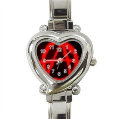Anarchy Heart Italian Charm Watch, punk, goth, rock
