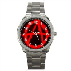 Anarchy Sport Metal Watch, punk, goth, rock