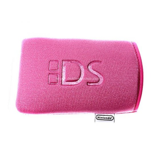 Cute Pink Protective Soft Cloth Pouch for NDS Lite