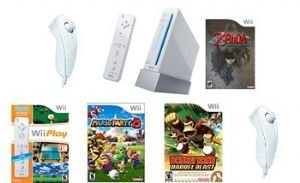 NINTENDO WII TOP SELLERS BUNDLE 17 TOP SELLING GAMES AND 4 CONTROLLERS