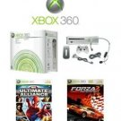 Xbox 360 Premium Console Bundle With 2 Fun Games REFURBISHED