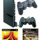 """Slim Sony Playstation 2 """"Value Bundle"""" - 86 Games, 2 Controllers"""